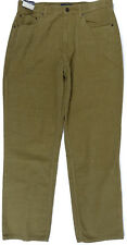 Mens Corduroy Pants 34x32 Easy Fit St Johns Bay Tan Relaxed Seat and Thigh