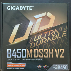 Gigabyte b450m ds3h v2 micro atx am4 motherboard new