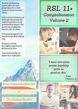 11+ English Comprehension by RSL: Volume 2 - Practice Papers ... by Robert Lomax