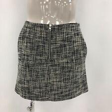Karen Millen Skirt Size UK14 Short Length Grey Textured Women's Smart 290807