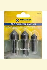 3pcs Countersink Drill Bit Set Deburring Metal Wood Plastic Hex Shank