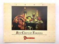 1990 Dominion Coupons Vintage Recipe Calendar Best Chefs Toronto Q060