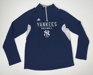 Adidas New York Yankees Quarter Zip Pullover Size Women's Large MLB Baseball