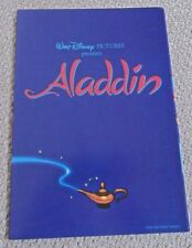ALADDIN ORIGINAL 1992 CINEMA MOVIE PRESSBOOK WALT DISNEY