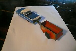 """Road Champs Diecast 4"""" 1959 Chevy El Camino FIRST MODEL YEAR PRODUCED& TRAILER"""