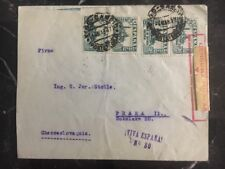 1937 Vigo Spain Censored Cover To Prague Czech Republic