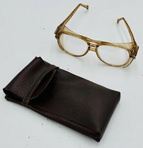 Vintage Aerosite Z87 Safety Glasses - Side Shields - USA Made - W/Leather Case