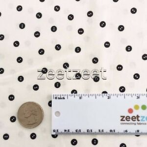 BABY BUTTONS White Sewing Seeds Quilt Fabric by the Yard by Quilting Treasures