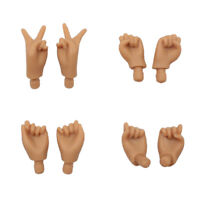 4 Pairs Japanese Skin Joints Movable Body/'s Mixed Pose Hand For Blythe Dolls