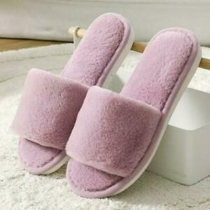 Womens Slippers Ladies Non-Slip Flats Warm Furry Slippers Casual Home