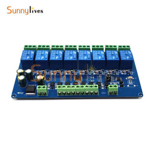 8 Channel RS485 Relay Module Board Modbus RTU 485 Remote Control Switch DC 7-30V