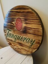 Tanqueray gin round plaque wooden sign mancave shed bar pub 14inch