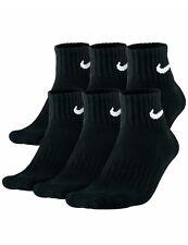 Nike Mens Socks 6 Pair Performance  Quarter cut Socks  Size L 8-12 BLACK 6 Pack