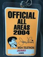 "JERRY LEWIS' PERSONALLY OWNED/USED 2004 MDA TELETHON ""ALL AREAS"" ACCESS BADGE!!!"