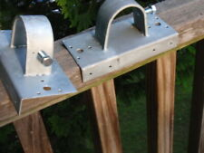 2 GALVANIZED STEEL FENCE POST PARTS WOOD TO CHAIN LINK