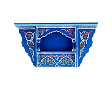Painted Moroccan shelf, Wall Shelves Floating Shelves Blue ,Rustic Floating