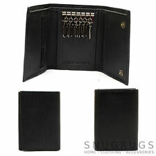 Mens / Gents Nappa Leather Tri-Fold Waller with 6 Key Hooks