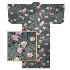 "Japanese Kimono Yukata Robe 58""L Sakura W/Shibori Pattern/ MADE JAPAN"
