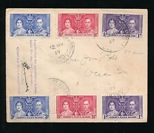 GILBERT + ELLICE Is 1937 CORONATION FDC SIGNED by POSTMASTER 2 SETS