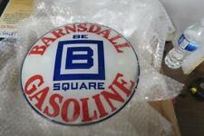 New ListingBarnsdall Be Square Motor Oil Gas Gasoline porcelain sign