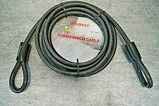 Stahlseil Absperrseil Seil 12mm x 4m mit 2 Schlaufen Stahl Seile Kabelschloß