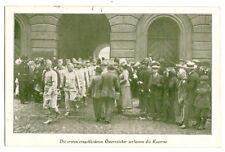 K. u. K. Armee, eingekleidete österreicher verlassen die Kaserne, 1917 Erfurt