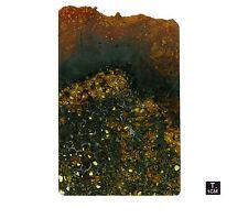 "Pallasite ""JEPARA"" - Slice oxidized crust - 115 g - 95 x 150 mm"