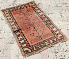 Turkish Rug 27''x41'' Vintage Old Anatolian Life Tree Design Carpet 71x106cm