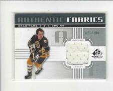 2011-12 SP Game Used Authentic FabricsBrad Park JERSEY Bruins /100