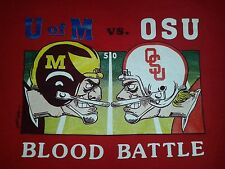 VINTAGE 1990 9th ANNUAL OHIO STATE VS MICHGAN FOOTBALL USA MADE Gamma Pi Chapter