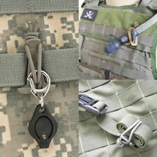 4 x Molle Karabiner Schlaufen elastisch Gummi Schlüsselhalter Modular Rucksack