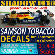 SHADOW DN9 1979 SAMSON Formula 1 car collection water slide DECALS 1:43 IXO