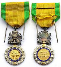 Médaille Militaire. III°République. Argent, email. Avec sa boite. SUP. Silver