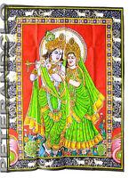 Batik Appeso Krishna e Radha Cotone 105x 74cm Indù Peterandclo 4177