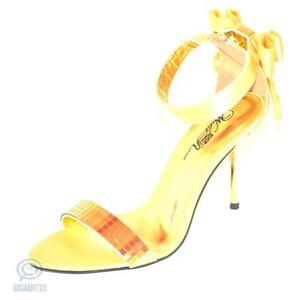 Gold Sandal High Heel Sexy Open Toe Party Cocktail Pump Stiletto Ladies Shoes