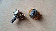 Batch of 2 Potentiometer 50k Stereo B Linear New 0 5/8in