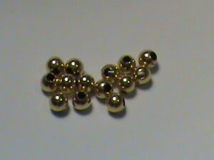 14kt Gold Beads 3 MM Smooth Round SOLID 14kt Gold 20 Pieces