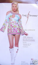 Groovy Gogo Go-Go Girl Retrò Costume Hippy 60s 70s S/M