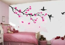 Wall Art Quality Vinyl Stickers Decals Cherry Blossom and Birds - XLarge Size