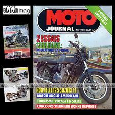 MOTO JOURNAL N°408 CROSS JEAN-MICHEL BARON KAWASAKI Z 1300 SUZUKI 125 ER 1979