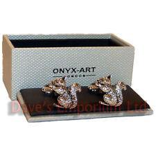 Squirrel Manschettenknöpfe Onyx Kunst - Verpacktes Geschenk - Damen
