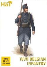 HaT 8290 1/72 Plastic WWI Belgian Infantry-ThirtyTwo Figures & Weapons