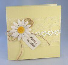 Lemon wedding invitation daisy & Lace trimmed (Fred)