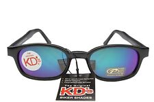 KD's Sunglasses Original Biker Shades Motorcycle Purple Blue Mirror 20118