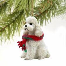 Poodle White Sport Cut Original Ornament