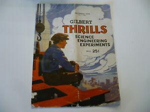 ANTIQUE ERECTOR SET/ GILBERT THRILLS SCIENCE EXPERIMENTS MAGAZINE *DEC. 1935