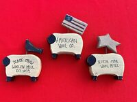 Vintage Set of 3 AMERICAN WOOL MILL Black Mutton Face Sheep Figurines 3/2 ❤️sj3j