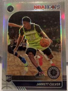 Jarrett Culver Silver Prizm Rookie #203 NBA Hoops 2020 Premium Stock RC