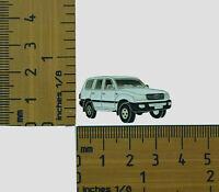 100 Series Toyota Landcruiser Wagon, White  Metal Lapel Pin , Badge