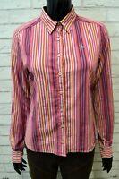 LACOSTE Donna Camicia Taglia 42 Maglia Camicetta Shirt Woman Blusa a Righe